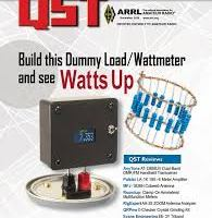 November 2018 QST Cover showing dummy load and watt meter project